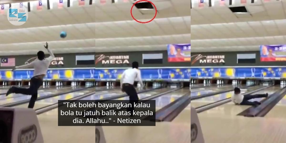 [VIDEO] Gelagat Pemain Bowling Ini Jadi Viral, Campak Bola Melayang 'Ke Bulan'