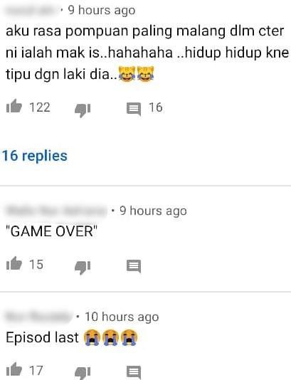 """""""Game Over"""" – Penonton Luah Geram, Babak Terakhir 'Cindai' Penuh Persoalan"""