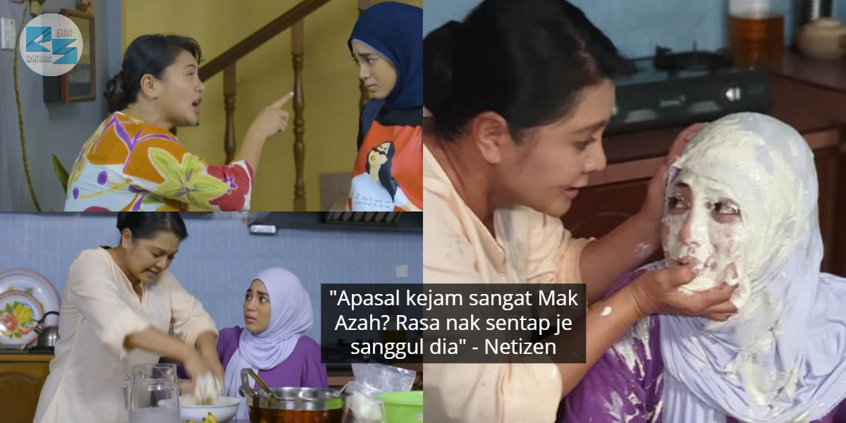 """Hina Sangat Ke Nurin Mak?"" – Penangan Ibu Jahat, Uyaina Habis Dilumur Tepung"