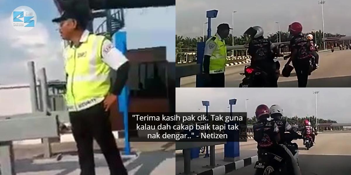 [VIDEO] Konvoi Motosikal Ditampar Pengawal, Sesuka Hati Masuk Tol Berpalang