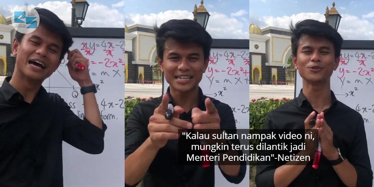 [VIDEO] Tak Cukup Geng Wartawan, Guru Ini Pula Ajar Addmath Depan Istana Negara