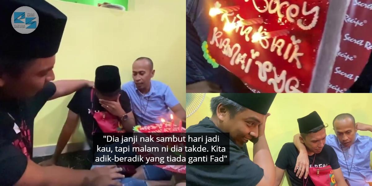 [VIDEO] Gagal Tahan Sebak, Fad Sambut Hari Jadi Masa Tahlil Allahyarham Abam