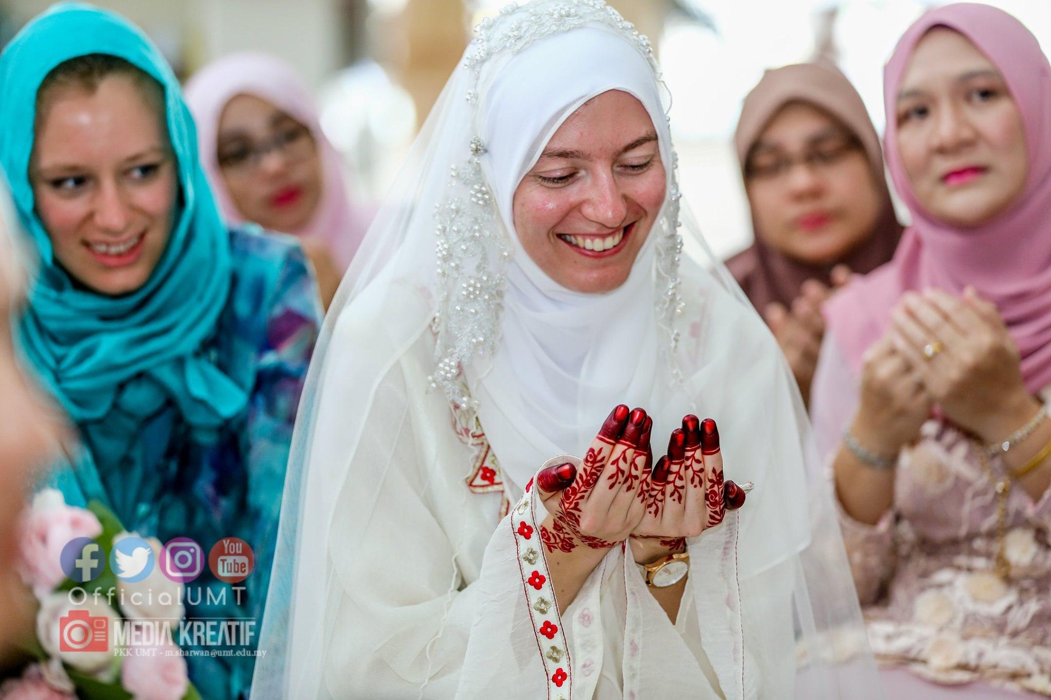 Ucap Tahniah Di IG Sebab Dah Masuk Islam, Jejaka Tak Sangka Nikahi Gadis Itali