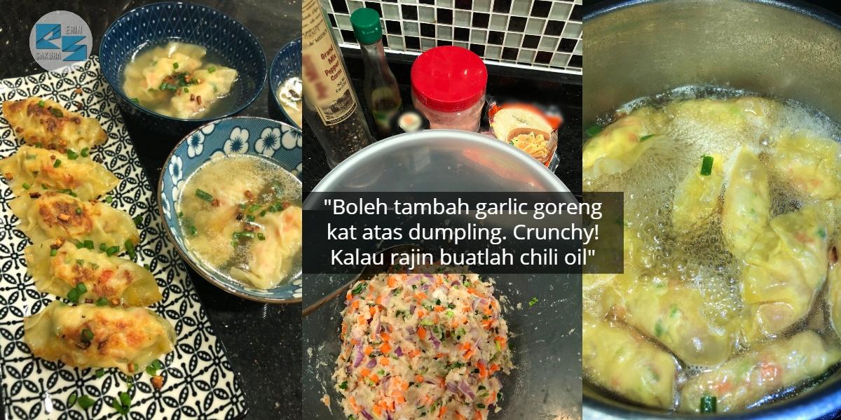 Dikongsikan Ribuan Kali, Gadis Dedahkan Resipi Mudah Buat Dumpling Rebus-Goreng