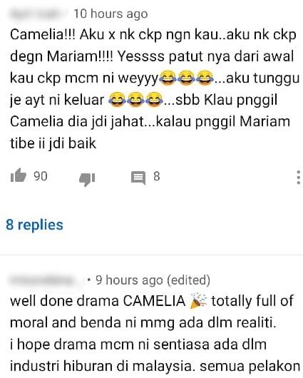 [VIDEO] Wajah Marina Hancur Disimbah Asid, Ending Drama 'Camelia' Dipuji Ramai