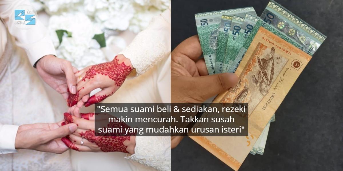 Suami Janganlah Kedekut & Terlalu Berkira, Takkan Miskin Setia Tanggung Isteri