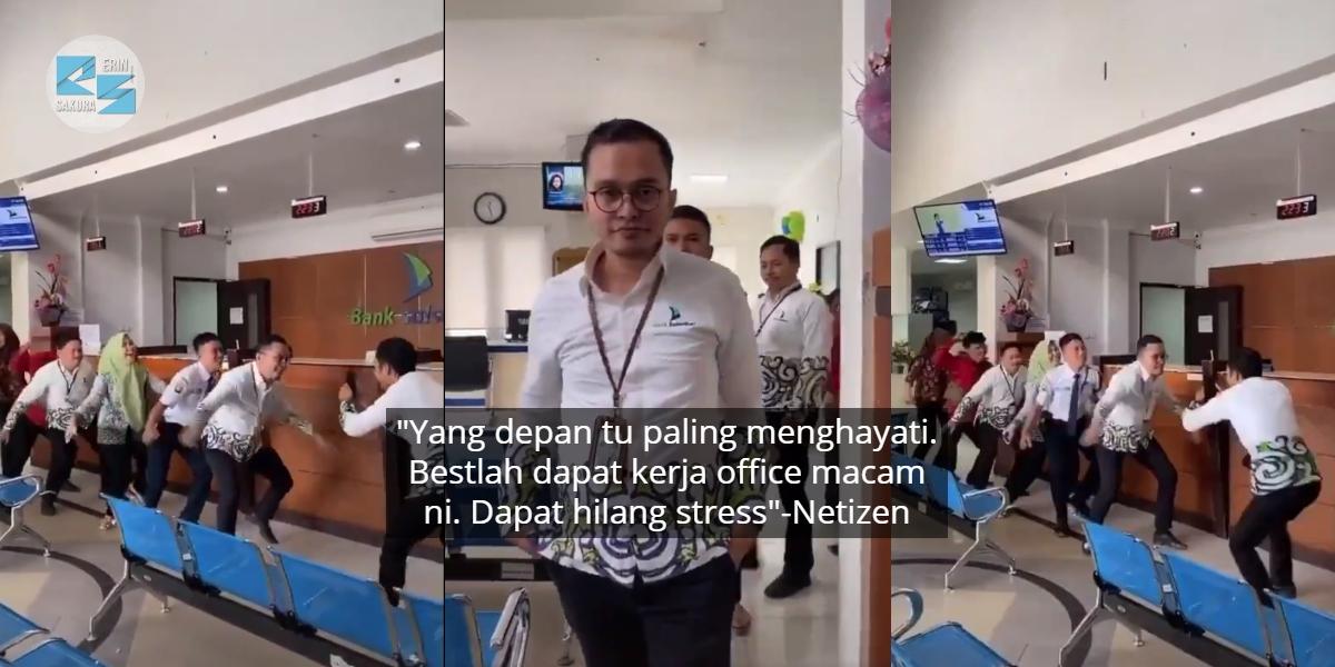 Daripada Pegawai Sampai Ke Pak Guard, Pekerja Bank 'Menggila' Buat Video TikTok