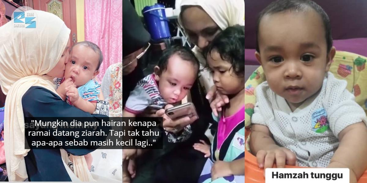 [VIDEO] Hamzah Dah Mula Tercari-Cari Ayah, Ralit Mata Tengok Video Lama Abam