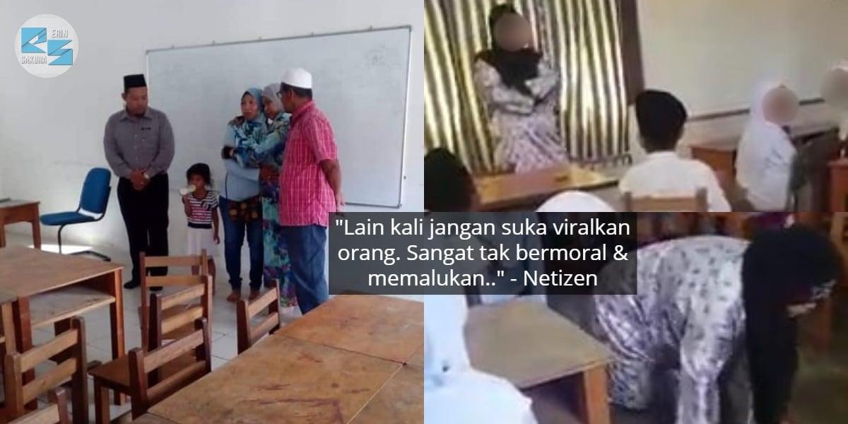 Penangan Viral Video Merangkak, Ibu Murid Tampil Jumpa Ustazah & Mohon Maaf
