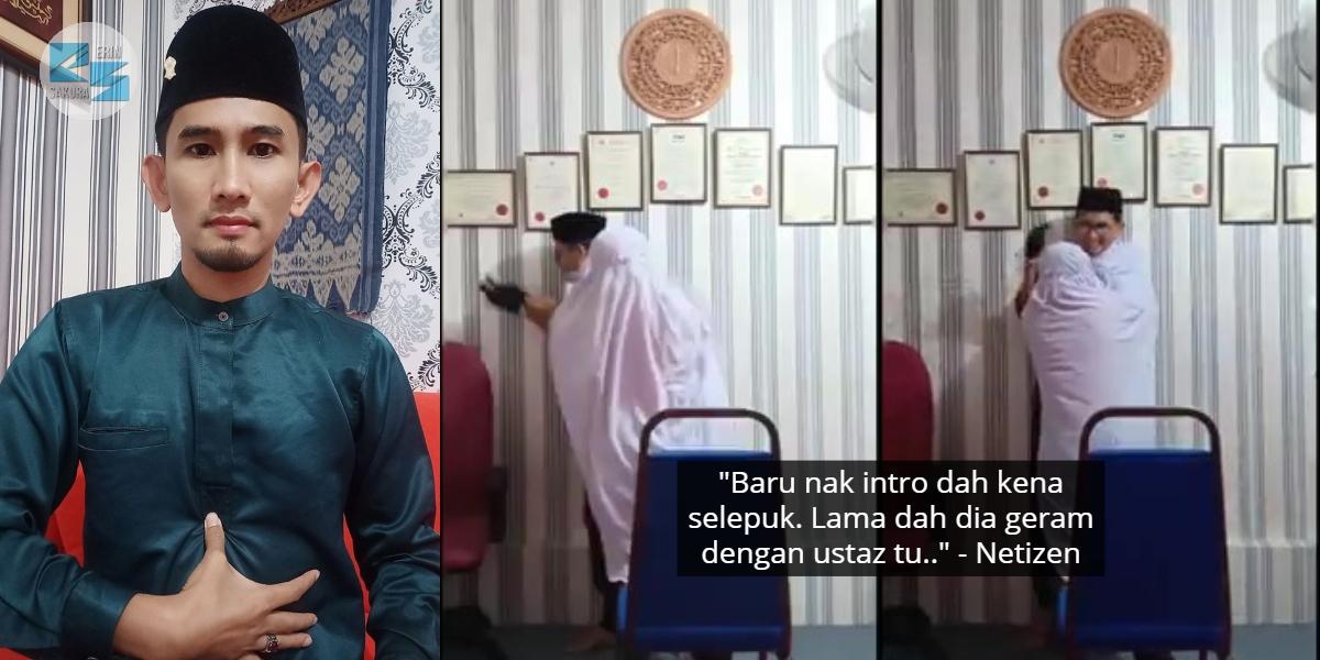 [VIDEO] Belum Sempat Nak 'Ruqyah', Ustaz Terkejut Dihempuk Wanita Kerasukan