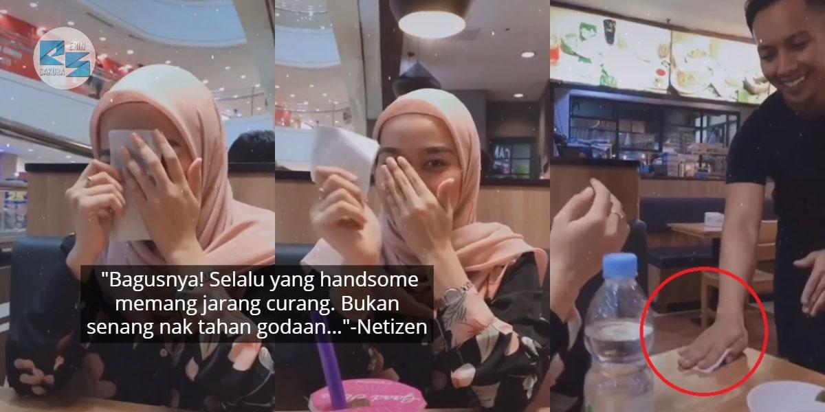 [VIDEO] Berani Bagi Surat Usya Abang Waiter, Gadis 'Terciduk' Bila Tahu Jawapan