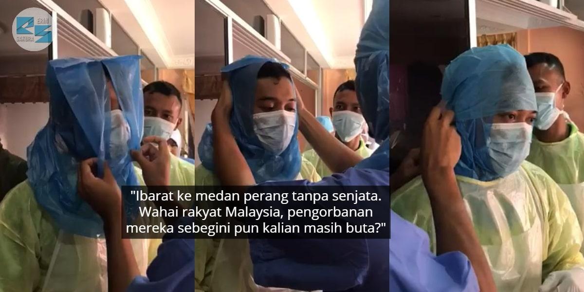 Alat Perlindungan Dah Sikit, Staf KKM Rela Sarung Plastik Sampah Rawat COVID-19