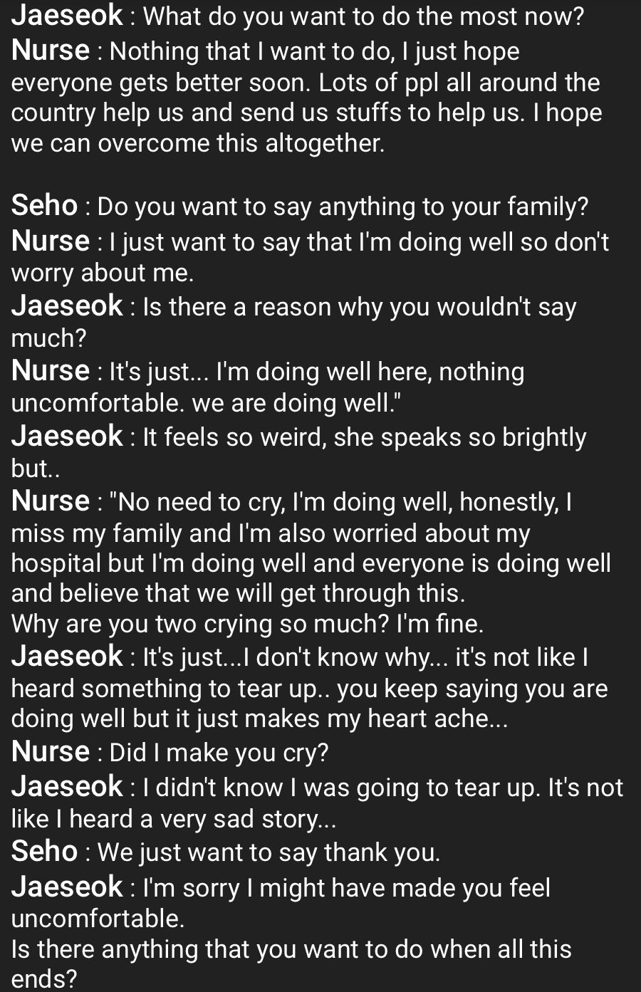 [VIDEO] Nurse Derita Berpisah Dengan Family Demi Rawat Covid-19, Jaesuk Nangis