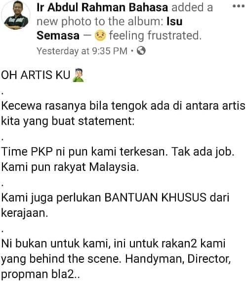 """""""2 Minggu PKP Macam Putus Income 2 Tahun"""" – Individu Kecewa Artis Banyak Demand"""
