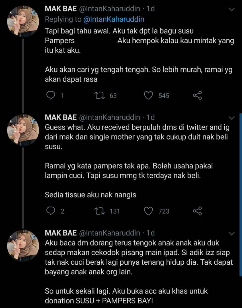 Korek Duit Beli Susu & Terpaksa Cuci Lampin Anak, Realiti Family Daif Musim PKP