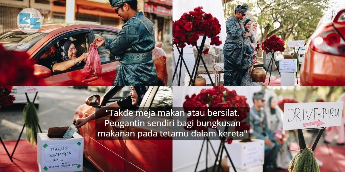 [FOTO] Tak Payah Nak Salam Keruk, Musim COVID-19 Elok Buat Wedding Drive-Thru
