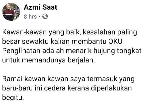 """""""Tarik Hujung Tongkat OKU Adalah Kesalahan Paling Besar"""" – Azmi Caliph Buskers"""