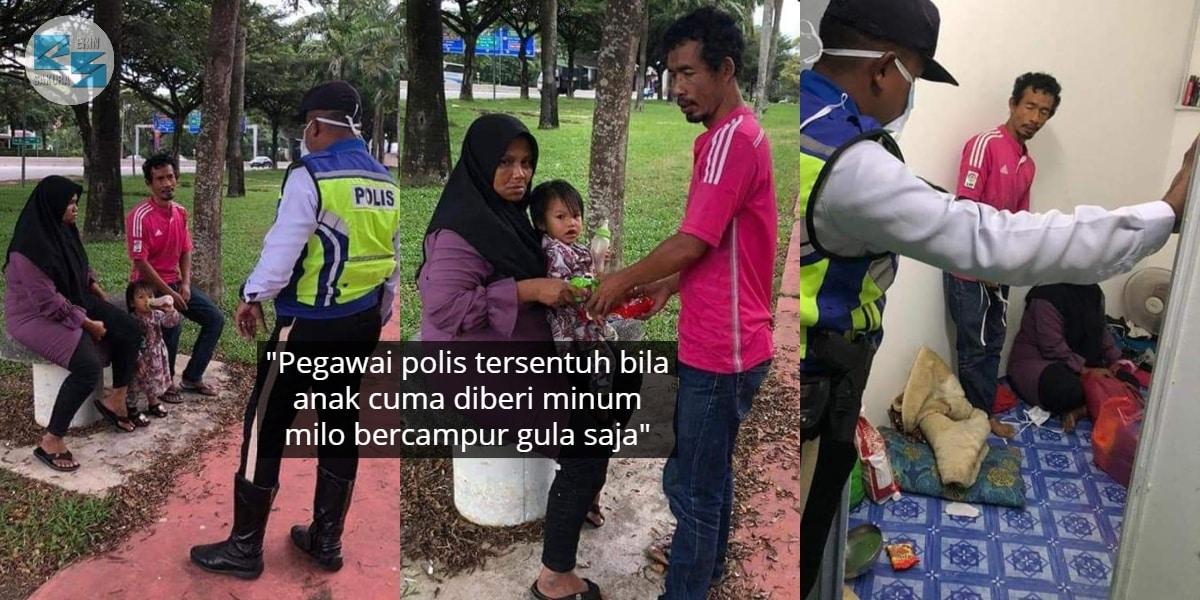 Disangka Ingkar PKP, Rupanya Suami Isteri Tebalkan Muka Merayu Beli Susu Anak