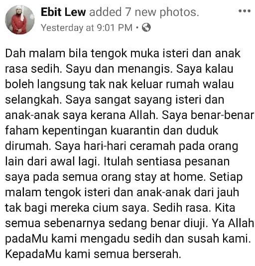 """""""Saya Salah, Tak Pandai"""" – Ebit Lew Ulas Dikecam Tayang Bagi Sumbangan COVID-19"""