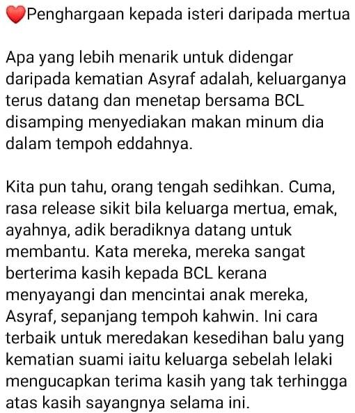 Suami Tiada Masih Disayangi Mentua, BCL & Keluarga Sinclair Wajar Jadi Tauladan