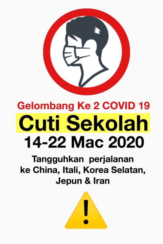 Malaysia Hadap Gelombang Kedua Koronavirus, Cuti Sekolah Nanti Mohon Beringat
