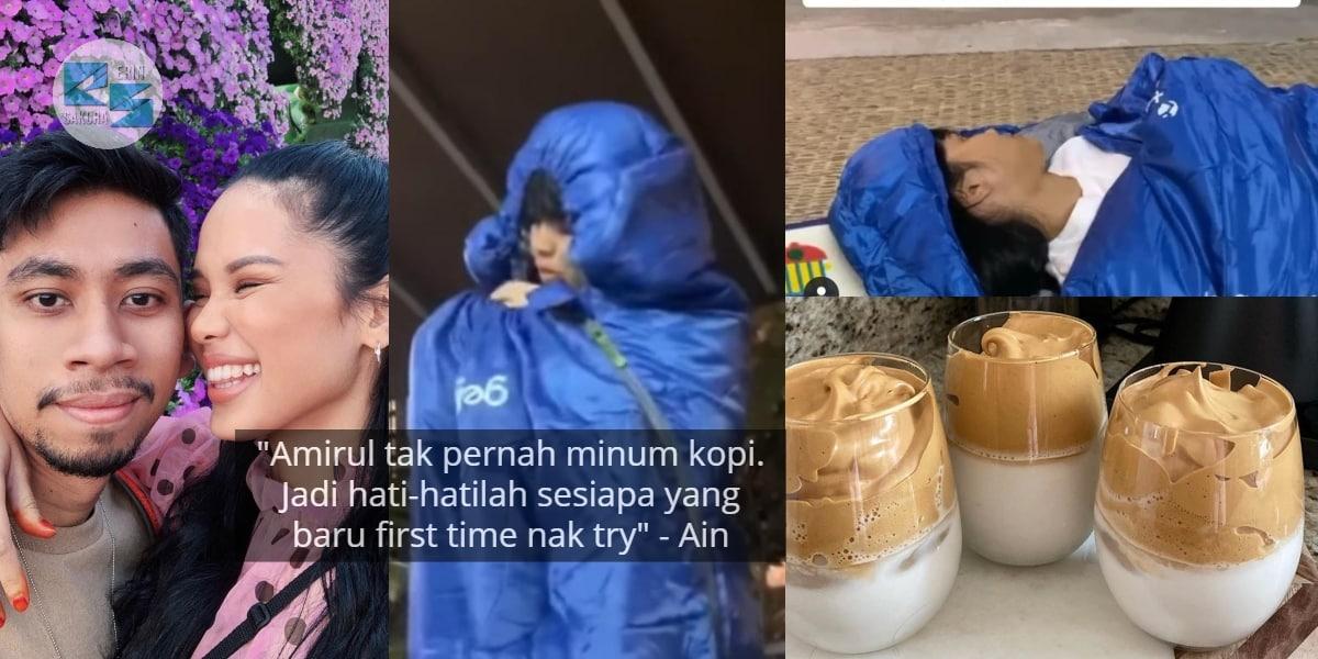 [VIDEO] Padah Cuba Kopi Dalgona, Lihat Apa Yang Jadi Pada Ain Edruce & Suaminya
