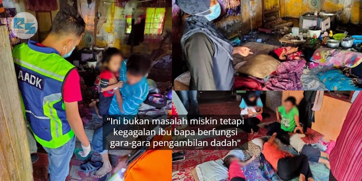 Laki Bini Dalam Pantang Positif Syabu, Anak Hidup Terabai Dalam 'Rumah Sampah'