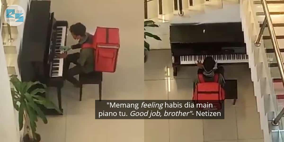 Tak Sangka Berbakat, Rider Sempat Main Piano Lepas Hantar Makanan Jadi Viral