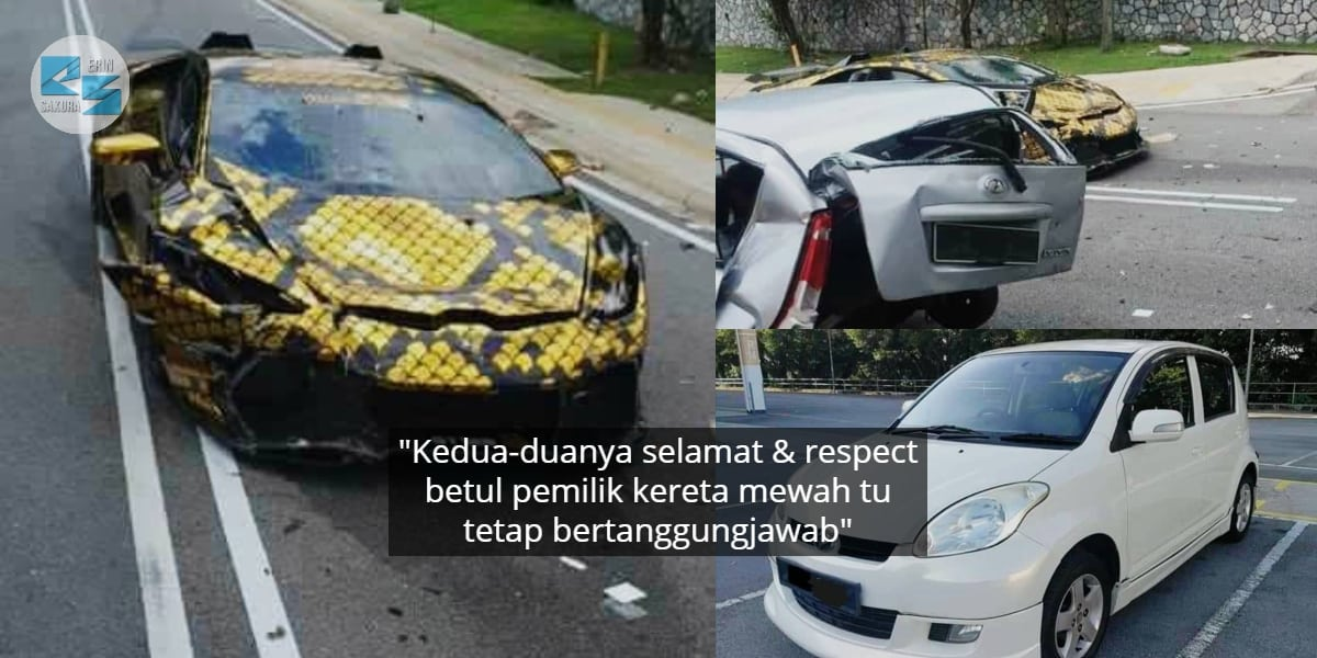 Lepas Remuk Dihentam, Pemilik Lamborghini Gantikan Ibu Tunggal Kereta Baru..