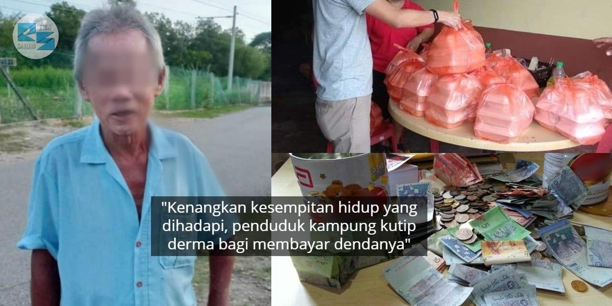 Ingkar PKP, Warga Emas Didenda RM1000 Lepas Tunggu Sumbangan Di Luar Rumah