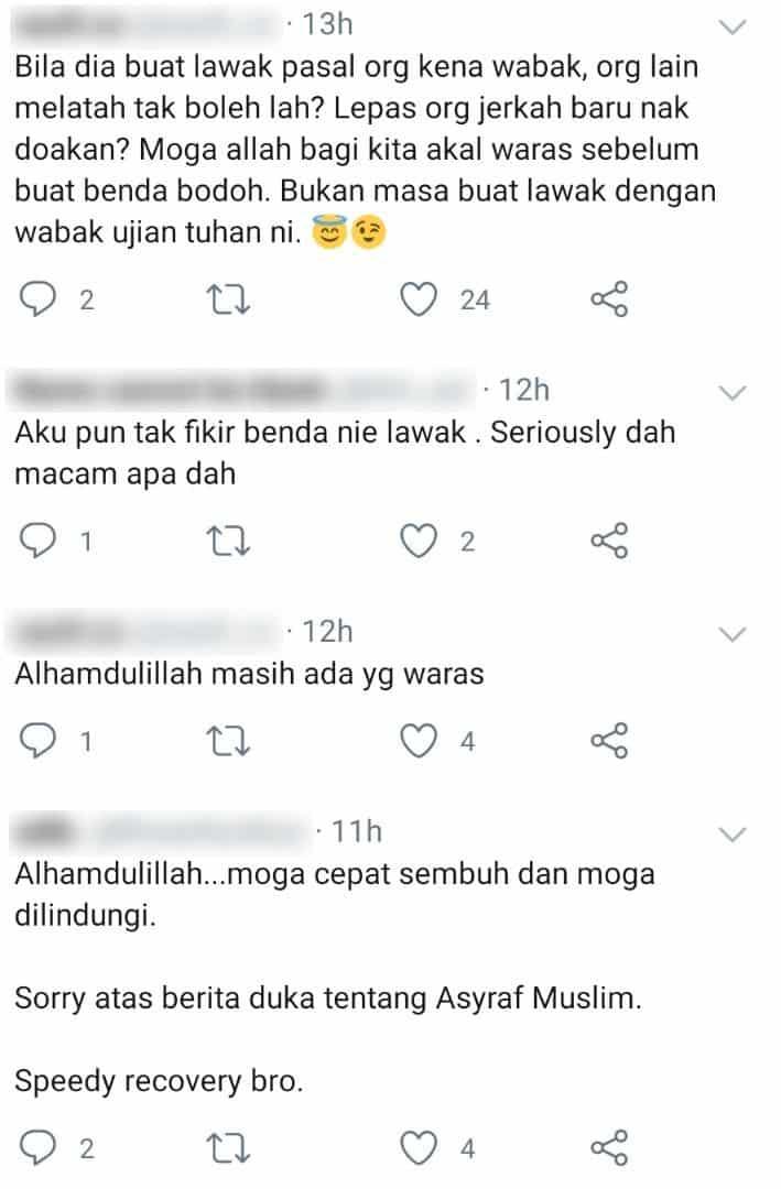 Menjengkelkan, Status Ashraf Muslim Positif COVID-19 Jadi Bahan Lawak Netizen