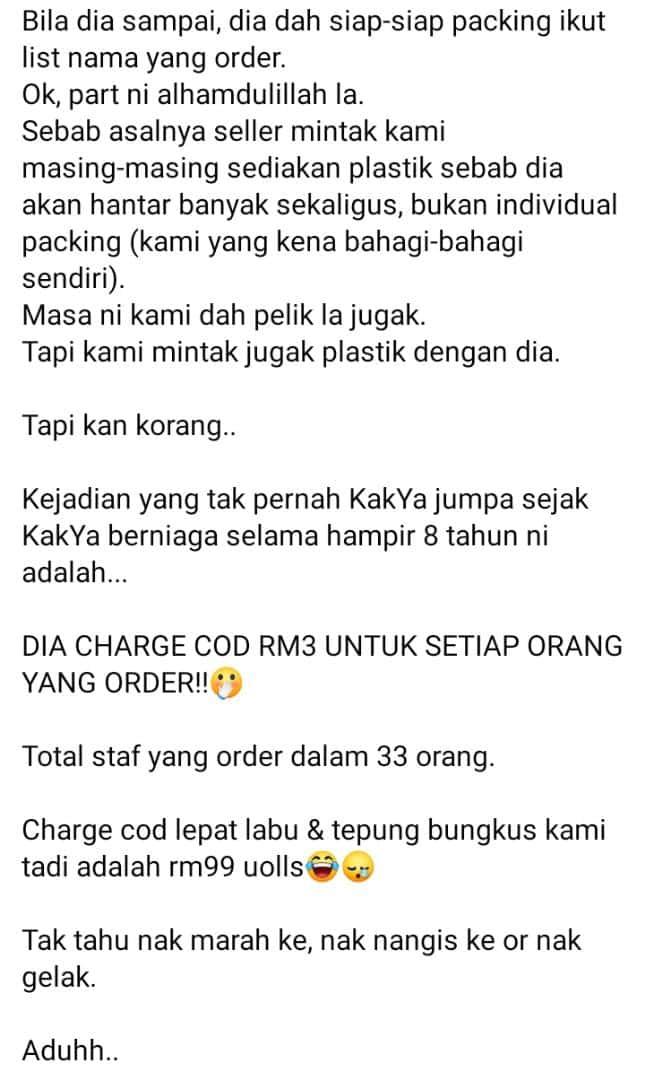 Cuma Order Kuih Kampung, Terus Terkejut Beruk Bila Kena Bayar COD Dekat RM100