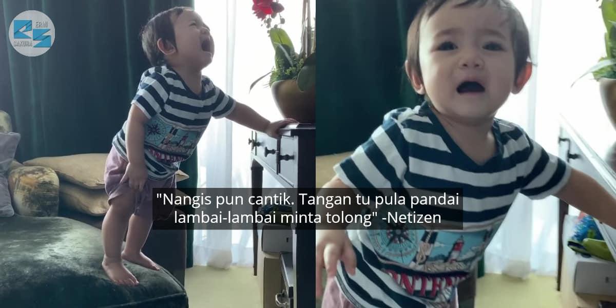 Alisa Aisyah Dah Pandai Panjat, Tapi Merengek Minta Tolong Mommy Bila Nak Turun