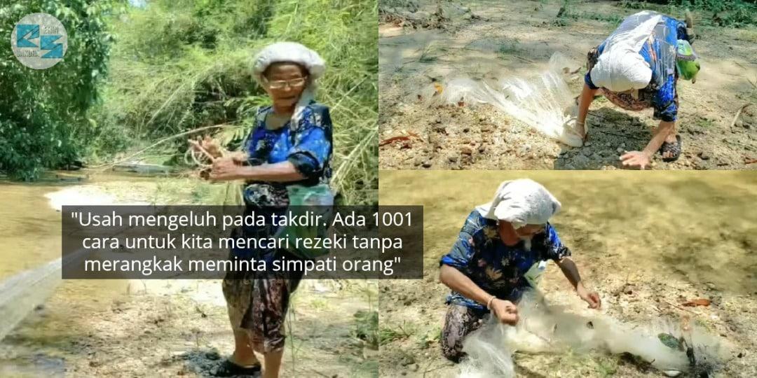 Tak Harapkan Ihsan Ramai, Tok Melah Kerah Kudrat 80 Tahun Menjala Ikan Demi..