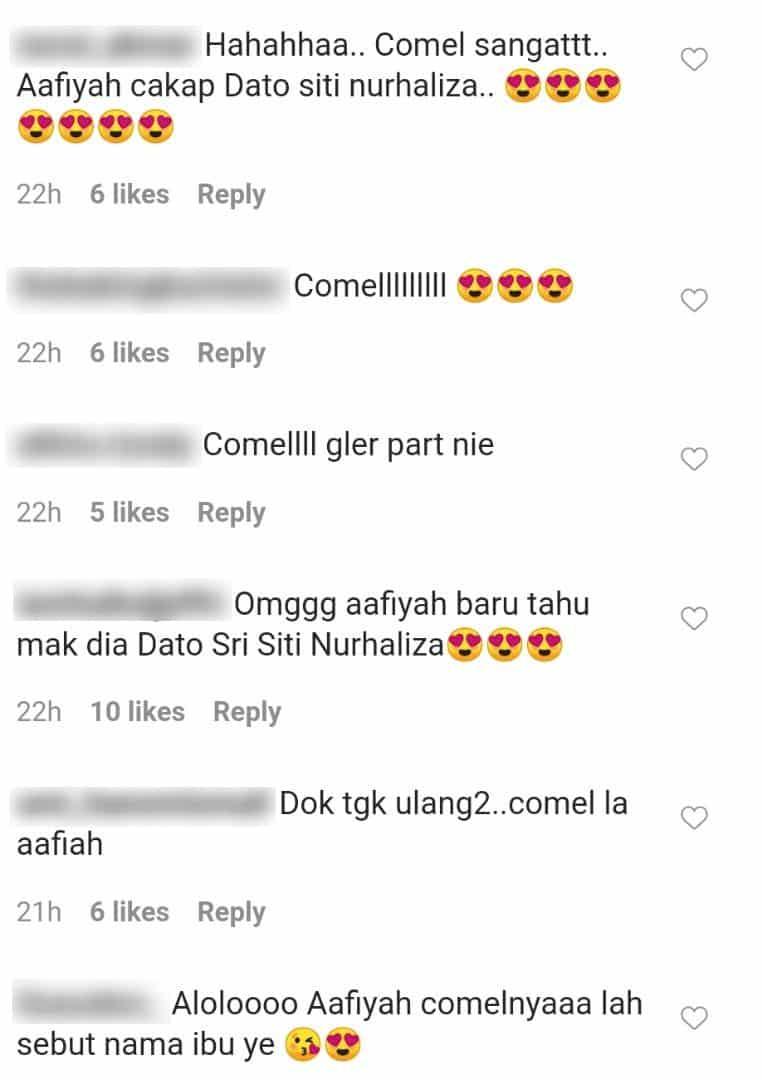 """[VIDEO] """"Allah, Baru Hari Ini Ibu Dengar Aafiyah Sebut Datuk Siti Nurhaliza.."""""""