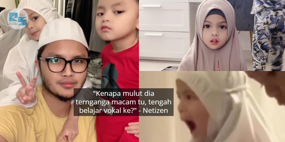 [VIDEO] Bapa Gigih Ajar Abang Mengaji, Adik Pula Ajuk Cara Sebutan Comel Habis