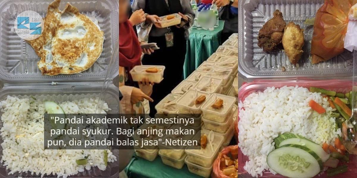 """Sedih Gila…""-Budak U Merungut Standard Makanan PKP, Si Pemberi Akui Menyirap"