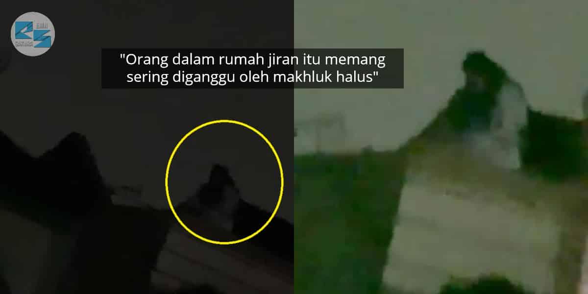 [VIDEO] Serba Putih & Badan Besar, Kelibat Misteri Dirakam Duduk Atas Bumbung