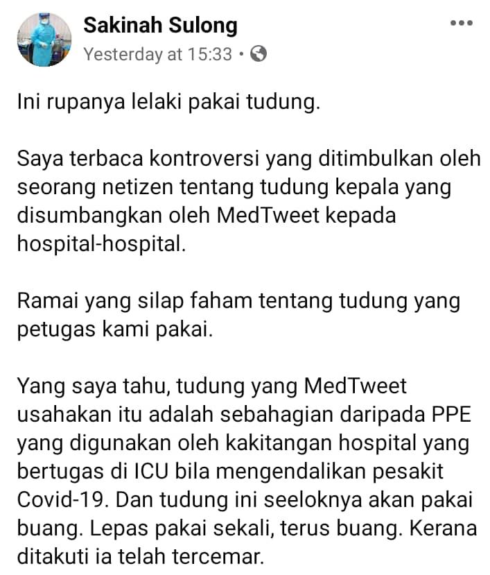 Dana RM280K Untuk Tudung Frontliner Dipertikai, Doktor Dedah Realiti Sebenarnya