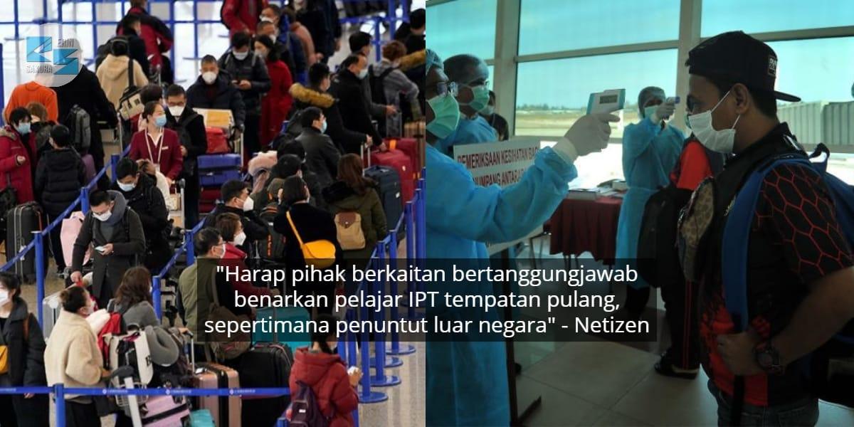 Student Overseas Selamat Pulang, Netizen Harap Pelajar Tempatan Tak Dilupakan