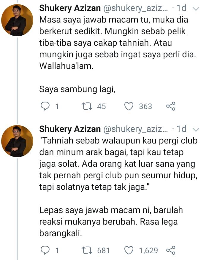 """Sah Tak Solat Isyak Aku Tadi, Malam Tu Pergi Clubbing & Minum Juga?"""