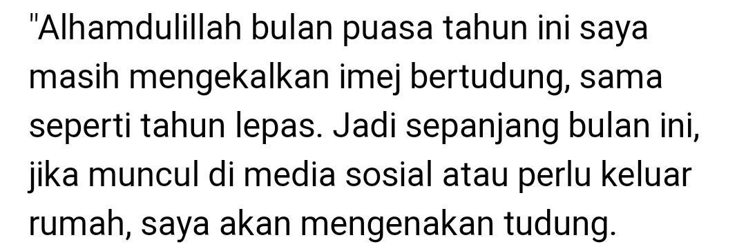 Terdetik Pakai Tudung Di Bulan Ramadan, Zizi Kirana Sedih Ada Netizen Kecam..