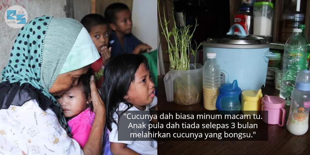 Hidup Serba Daif, Nenek Hanya Minta Susu Pekat Manis Nak Bagi Cucu Minum Sahaja