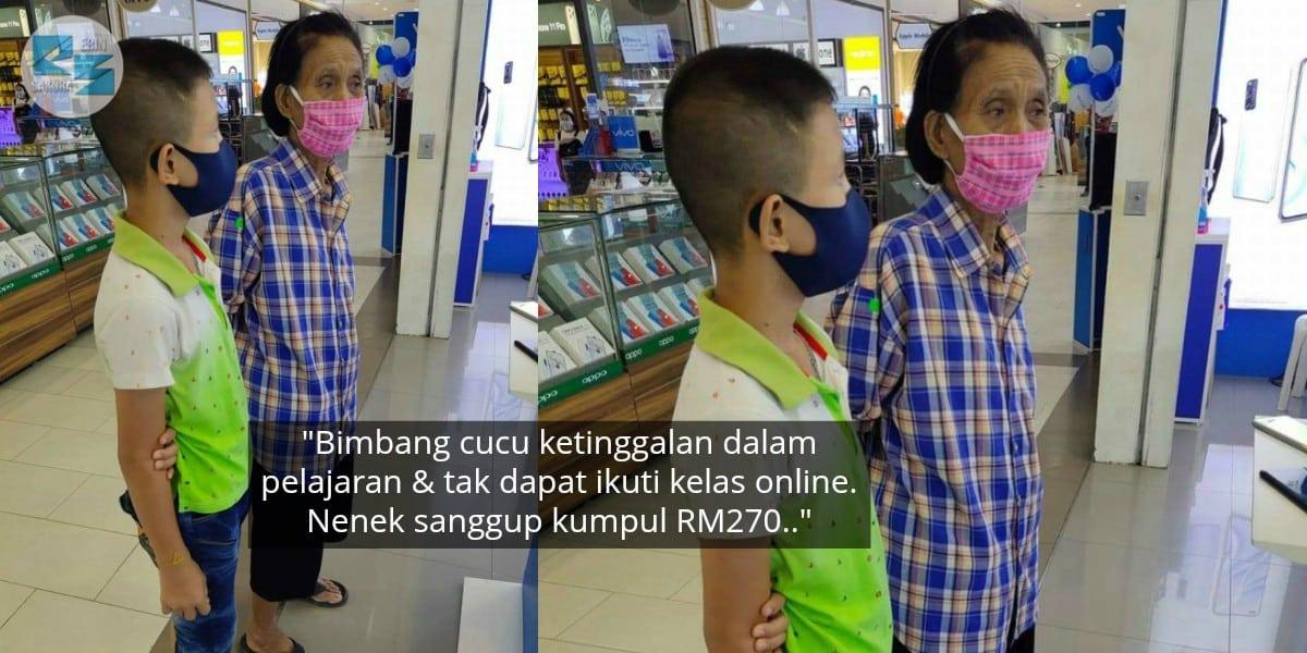 Nenek 'Korek' Simpanan, Beli Telefon Pintar Agar Cucu Dapat Ikuti Kelas Online