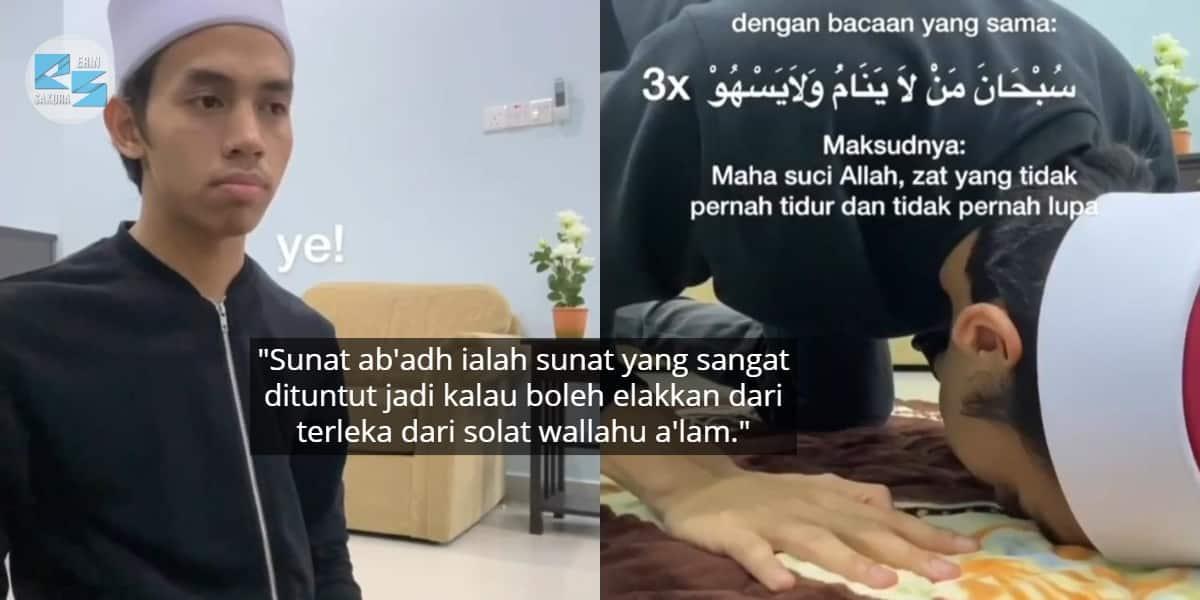 [VIDEO] Terlepas Pandang Bab Qunut? Pemuda Ini Tunjuk Cara Betul Sujud Sahwi