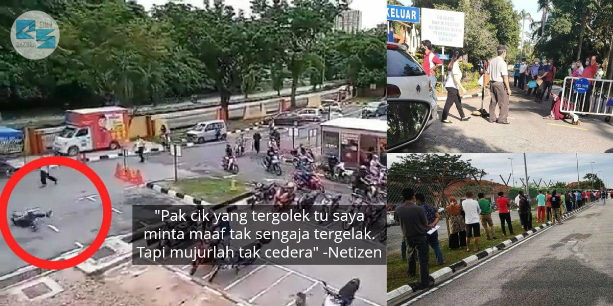 [VIDEO] Pejabat JPJ Diserbu Orang Ramai, Punya 'Kalut' Sampai Tergolek Di Jalan