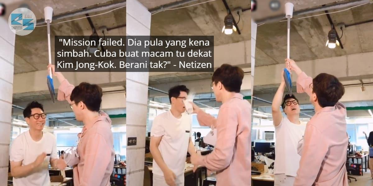 [VIDEO] Nak 'Pedajal' Member Tak Jadi, Suk-Jin Terdiam Lepas Muka Kena Simbah