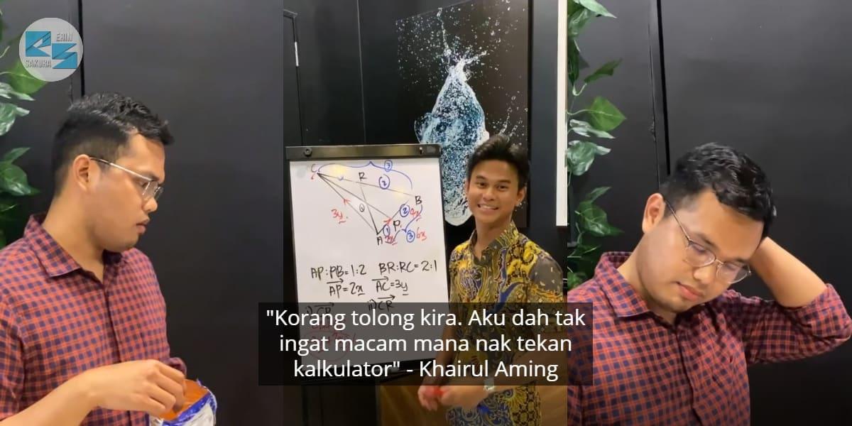 [VIDEO] Member Sakan Ajar AddMath, Khairul Aming Pula Nampak 'Blur' Dekat Tepi