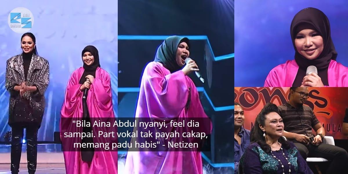 [VIDEO] Nyanyian Menusuk Ke Jiwa, Persembahan Aina Abdul Dipuji Panel Jemputan