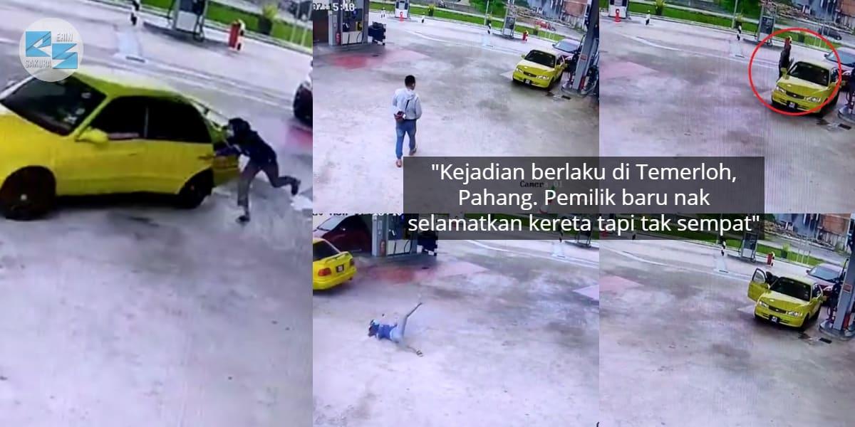 [VIDEO] Leka Isi Minyak, Wanita Terkejut Lepas Kereta Dilarikan Seorang Lelaki